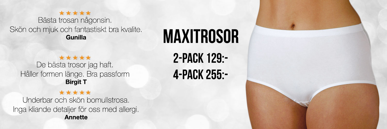 Trosor maxi – Strumpor och Underkläder som sitter skönt