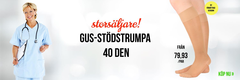 Gus-stödstrumpa 40 den