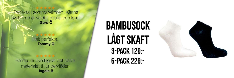 Bambu – strumpor med kort skaft